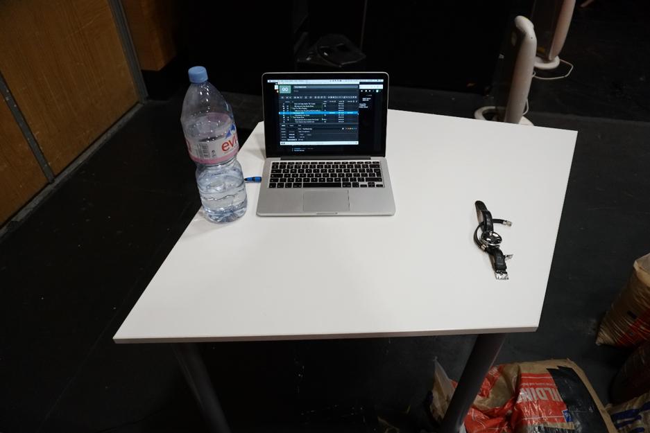 Rehearsal sound desk